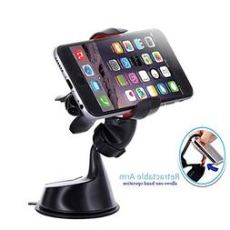 2 in 1 Dashboard Cell Phone Mount – Windshield Smartphone