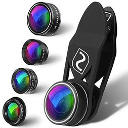 5 in 1 Mobile Phone Camera Lens Kit - Universal Set For iPho