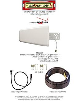10dB Yagi 3G 4G LTE Antenna Kit To Verizon Pantech UML295 w/