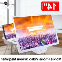 14 Inch Phone Screen Magnifier 3D Video Cell Phone Amplifier