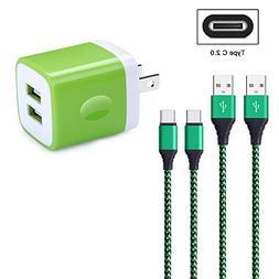 FiveBox 2.1A Dual Port USB Wall Charger Box Charging Plug Bl