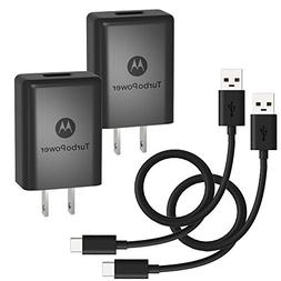 Motorola TurboPower 15+ QC3.0 Wall Chargers with USB-C Cable