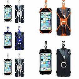 2 In1 Cell Phone Lanyard Strap Case Holder With Detachable N