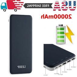 20000mAH portable Power Bank Backup External USB Battery Cha