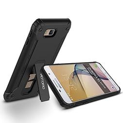 2016 Galaxy J7 Prime Case, OMOTON J7 Prime Case black with
