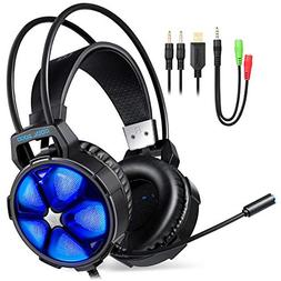 2018 EasySMX Gaming Headset for PS4, PC, Xbox One Slim, Cool
