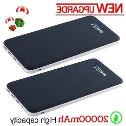 2pc Super Thin 20000mAh Power Bank Portable Charger 3USB For