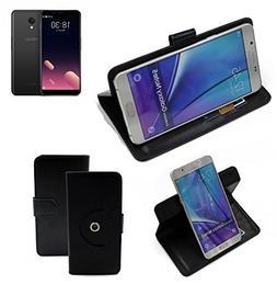 360° Cover Smartphone Case for Meizu M6S, black | Wallet Ca