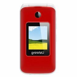 Ushining 3G Unlocked Flip Cell Phone for Senior  Kids,Easy-t