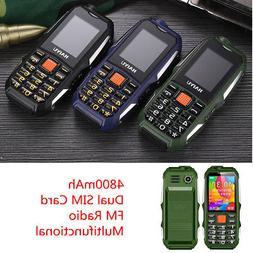 4800mAh 2 Dual Sim Card Big Button Mobile Cell Phone For Sen