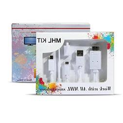 6.5 Feet Micro USB Universal MHL Cable Kit to HDMI Media Ada