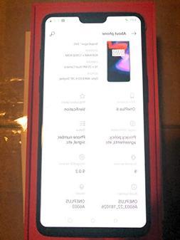 OnePlus 6 A6003 Dual-SIM  Factory Unlocked 4G Smartphone  -