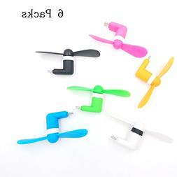 TENKEY 6 Packs USB C Mini Fan USB Tpye C Phone Fan Mini Port