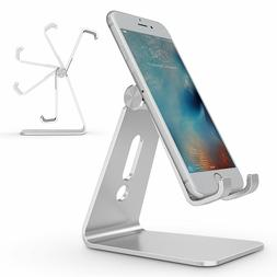 Adjustable Cell Phone Stand, OMOTON Aluminum Desktop Cellpho