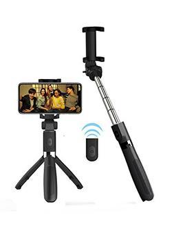 Alptoy Selfie Stick Bluetooth, Extendable Selfie Stick with