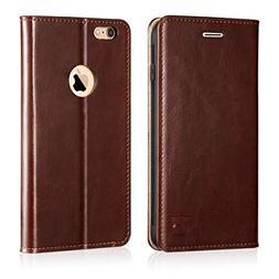 Belemay iPhone 6s Plus Case, iPhone 6 Plus Case, Genuine Lea
