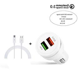 DEESEENewQualcomm Certified QC3.0 Quick Charge With Dual USB
