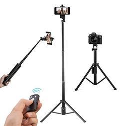 Eocean Selfie Stick Tripod, 54 Inch Video Tripod, Extendable