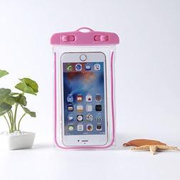 FAVOLOOK Luminous Mobile Phone Bag, Noctilucent Waterproof C