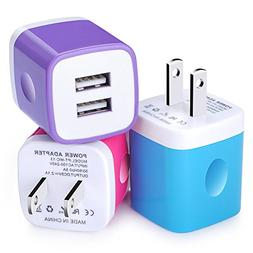 FCC Certified Wall Charger, USB Power Charging Cube, Travel
