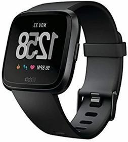 Fitbit Versa Smart Watch, Black/Black Aluminium, One Size