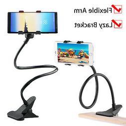 Flexible 360° Clip Mobile Cell Phone Holder Lazy Bed Deskto