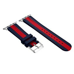 For Apple Watch Band, Soft Silicone Strap Replacement Bracel