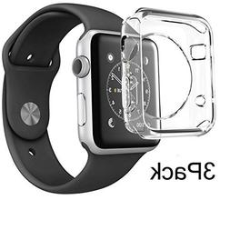 For Apple Watch Case 38mm CaseHQ Hard Soft TPU Transparent F