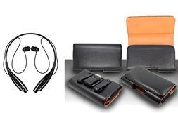 For Asus Zenfone 2E Premium Classic Black Pebble Texture Lea