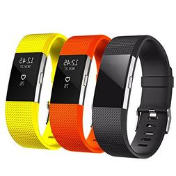 For Fitbit Charge 2 Band, Classic Soft TPU Adjustable Replac