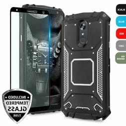 For LG Stylo 4 Case Metal Plate Magnetic Support Hard Cover+