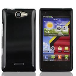 For Verizon LG Lucid 4G Vs840 Accessory - Black TPU Soft Gel