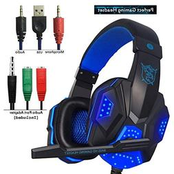 Gaming Headset for PS4 Xbox One,Over Ear Gaming Headphones w