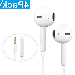 Headphones, Generic 4Pack Quality Excellent Earbuds Earphone