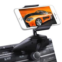 Upgraded IPOW One Button Installation CD Slot Phone Holder w