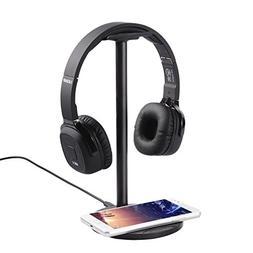 LESHP Wireless Charging Headphones Stand,2-in-1 Wireless Cha