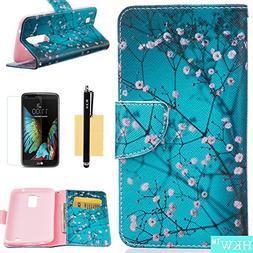 LG K10 Case,LG Premier LTE Case,HKW  Plum Blossom Premium PU