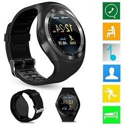 LtrottedJ 2018 Bluetooth Smart Watch Phone Mate Full Round S