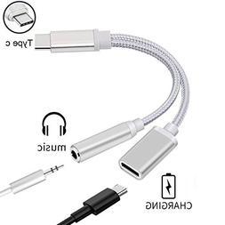 ACCGUYS USB C Headphone, Type C to 3.5mm Headphone Jack Char