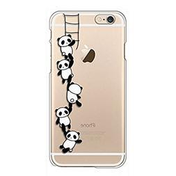 Qissy iPhone6s Case, iPhone 6 Case Panda Clear Design Transp