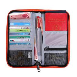 RFID Blocking Travel Wallet & Passport Holder-Travel Organiz