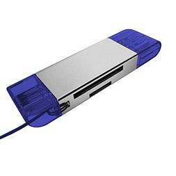 SHNUM - USB 3.0+Type C SD/Micro SD TF Card Reader OTG Adapte