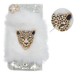 Spritech Bling Rhinestone Diamond Leopard Design PU Leather