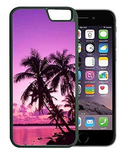 - Tropical Palm Trees Sunset Beach - Rubber TPU Case For iP
