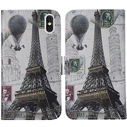TienJueShi Eiffel Tower Book-Style Flip Leather Protector Ca