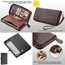 Wallet+Stylus mybat Universal Crocodile-Embossed Fits Apple