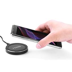 Wireless Charger, LESHP Portable Qi Wireless Chargering Pad