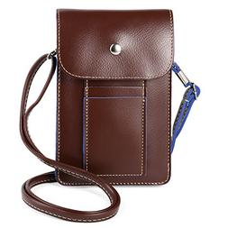 Women's PU Leather Crossbody Bag Wallet for Apple iPhone X /