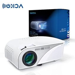 Mcwell Portable Mini HD LED Video Projector Office Home Thea