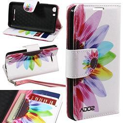 Advance 5.0 Case, BLU Advance 5.0 Wallet Case, SOGA  PU Leat